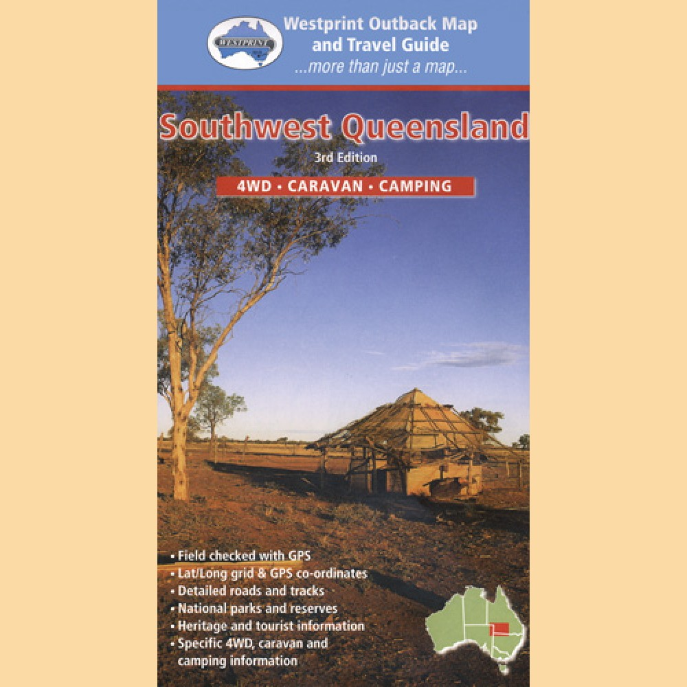 South West Queensland Outback Karte  Landkarte  Australien