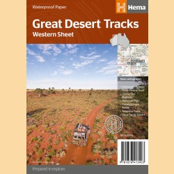 "Outback Landkarte ""Great Desert Tracks Blatt West"""