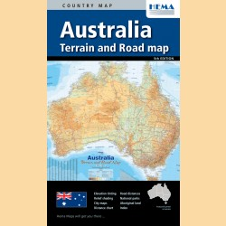"Straßenkarte Australien ""Australia Terrain & Road"""