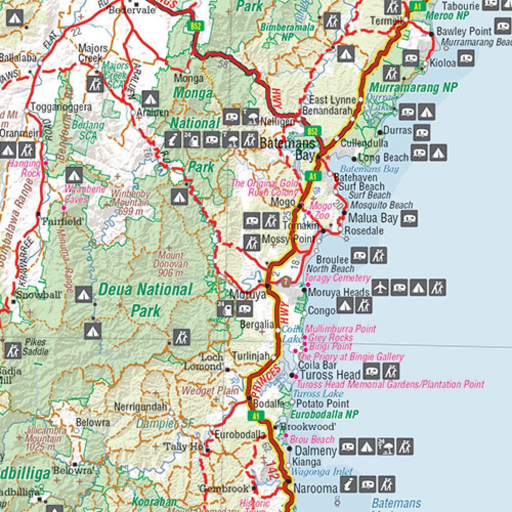Karte Australien Und Umgebung.Melbourne To Sydney City To City Map Landkarte