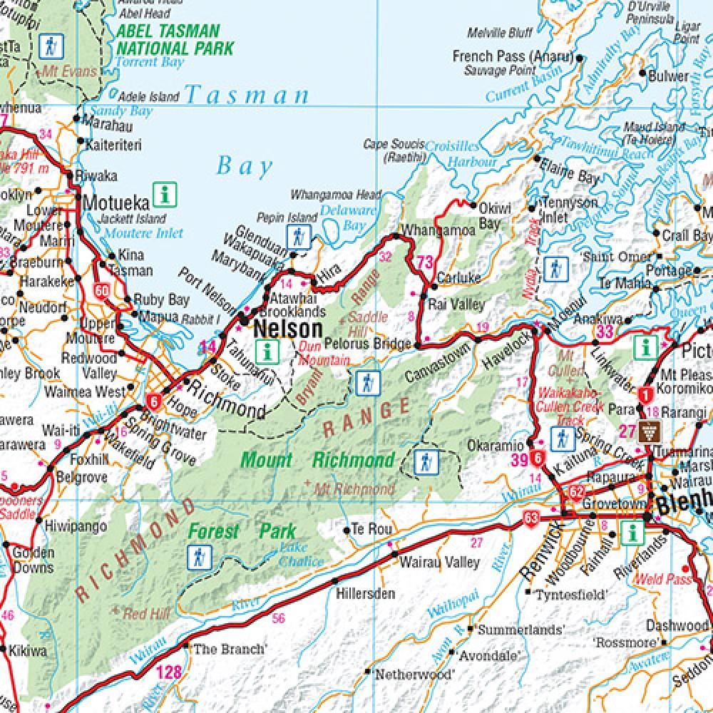 Landkarte Neuseeland Sudinsel New Zealand South Island